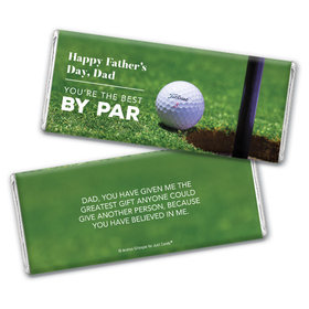 Personalized Father's Day Best by Par Chocolate Bar & Wrapper