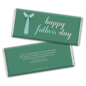 Personalized Father's Day Timeless Tie Chocolate Bar & Wrapper