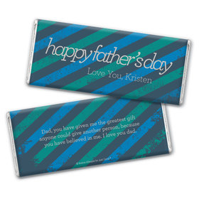 Personalized Father's Day Strength in Stripes Chocolate Bar & Wrapper