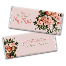 Personalized Mother's Day Thank You Bouquet Chocolate Bar & Wrapper