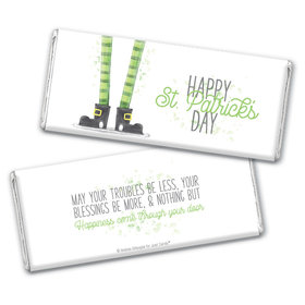 Personalized St. Patrick's Day Lucky Feet Chocolate Bar Wrappers