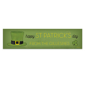 Personalized St. Patrick's Day Rustic Irish Hat 5 Ft. Banner