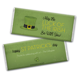 Personalized St. Patrick's Day Rustic Irish Hat Chocolate Bar Wrappers