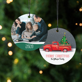 Red Pickup Truck Ornament