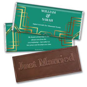 Personalized Wedding Classic Embossed Chocolate Bar & Wrapper