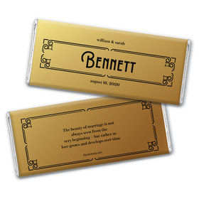Personalized Wedding Love is Golden Chocolate Bar Wrappers
