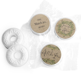 Personalized Wedding Sage Wreath LifeSavers Mints