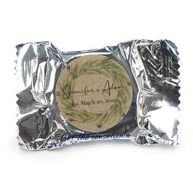 Personalized Wedding Sage Wreath York Peppermint Patties
