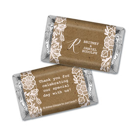 Personalized Wedding Floral Lace Hershey's Miniatures