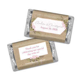 Personalized Wedding Botanical Border Hershey's Miniatures Wrappers Only