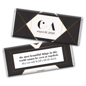 Personalized Wedding Elegant Geo Chocolate Bar Wrappers