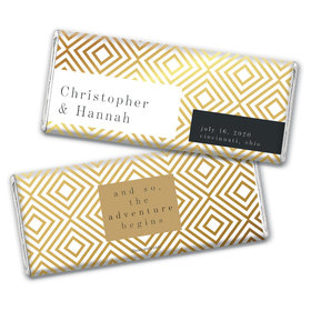 Personalized Wedding Love & Bliss Chocolate Bar Wrappers