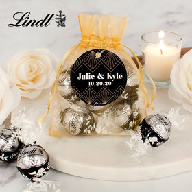 Personalized Wedding Lindt Truffle Organza Bag- Lace and Love