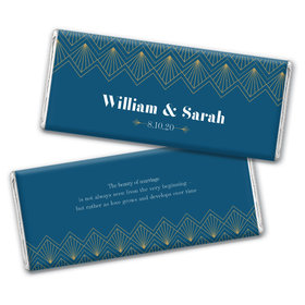 Personalized Wedding Lace & Love Chocolate Bar & Wrapper