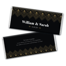 Personalized Wedding Lace & Love Chocolate Bar Wrappers