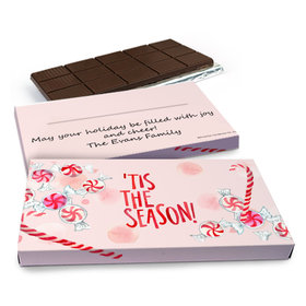 Deluxe Personalized Christmas Tis the Season Chocolate Bar in Gift Box (3oz Bar)