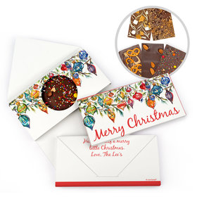 Personalized Christmas Christmas Ornaments Gourmet Infused Belgian Chocolate Bars (3.5oz)