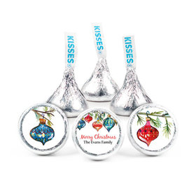 "Personalized Christmas Ornaments 3/4"" Stickers(108 Stickers)"