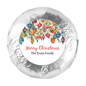 "Personalized Christmas Ornaments 1.25"" Stickers (48 Stickers)"