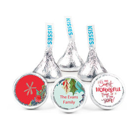 "Personalized Christmas Wonderful Time 3/4"" Stickers(108 Stickers)"