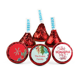 Personalized Christmas Wonderful Time Hershey's Kisses (50 pack)
