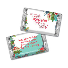 Personalized Christmas Wonderful Time Mini Wrappers