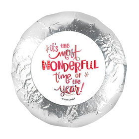 "Personalized Christmas Wonderful Time 1.25"" Stickers (48 Stickers)"