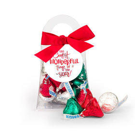 Christmas Wonderful Time Hershey's Kisses Purse and Gift Tag