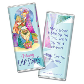 Personalized Christmas Wise Men Chocolate Bar Wrappers Only