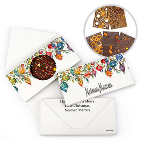 Personalized Christmas Add Your Logo Ornaments Gourmet Infused Belgian Chocolate Bars (3.5oz)