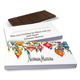 Deluxe Personalized Christmas Add Your Logo Ornaments Chocolate Bar in Gift Box (3oz Bar)
