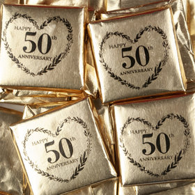 50th Anniversary Chocolate Squares