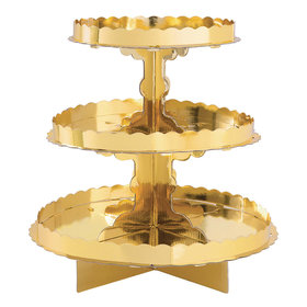 3 Tier Cupcake Stand - Gold