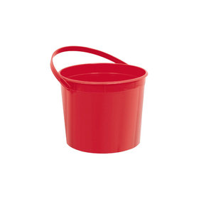 Red Plastic Bucket with Handle