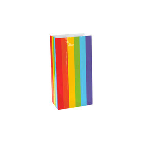 Large Paper Favor Bags Rainbow (12 Pack)