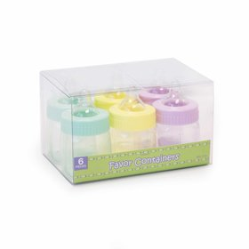 Assorted Fillable Baby Bottles (6 Pack)