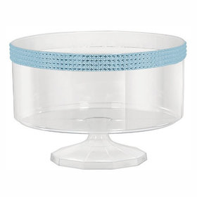 Small Plastic 40oz Trifle Container with Blue Gems
