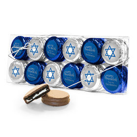 Personalized Happy Hanukkah 12Pk Belgian Chocolate Covered Oreo Cookies