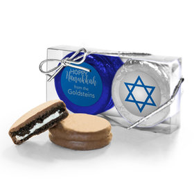 Personalized Happy Hanukkah 2Pk Chocolate Covered Oreo Cookies