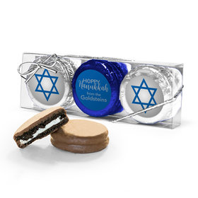 Personalized Happy Hanukkah 3Pk Chocolate Covered Oreo Cookies