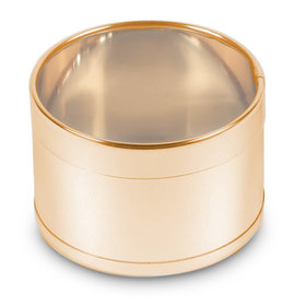 Medium Gold Round Plastic Tin (50 Pack)