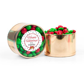 Personalized Merry Christmas Chocolate Minis Plastic Tin