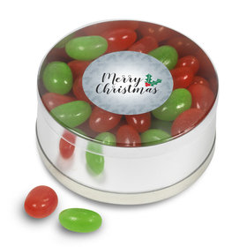 Merry Christmas Jelly Beans Small Plastic Tin