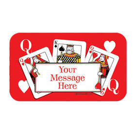 Casino Party Personalized Rectangular Stickers (18 Stickers)