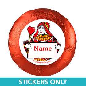 "Casino Party Personalized 1.25"" Stickers (48 Stickers)"
