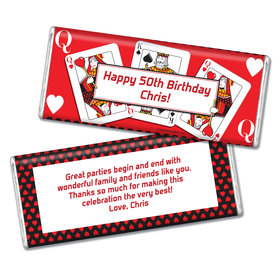Birthday Playing Cards Personalized Hershey's Chocolate Bar & Wrapper