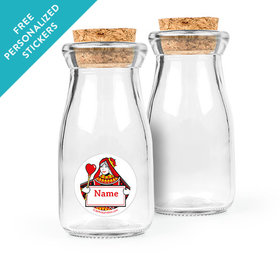 Casino Party Personalized Glass Bottle with Cork (24 pack)