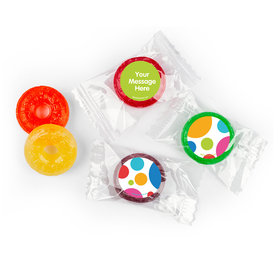 Birthday Polka Dot Party Personalized 5 Flavor Hard Candy