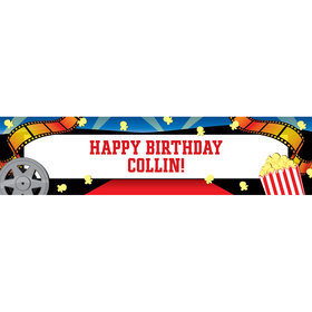 Personalized Movie Party 5 Ft. Banner