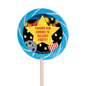 """Movie Party Personalized 3"""" Lollipops (12 Pack)"""